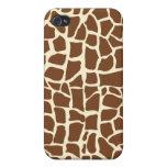 Estampado de animales del modelo de la jirafa iPhone 4 carcasa