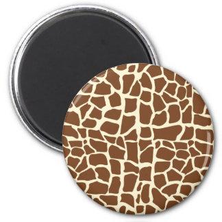 Estampado de animales del modelo de la jirafa imanes de nevera