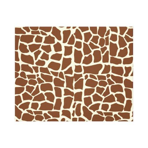 Estampado de animales del modelo de la jirafa impresiones en lona estiradas