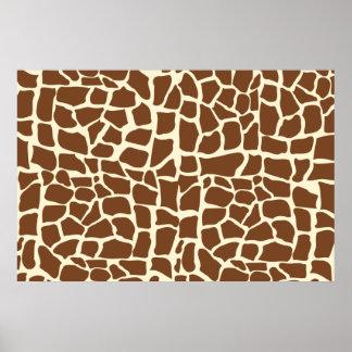 Estampado de animales del modelo de la jirafa poster
