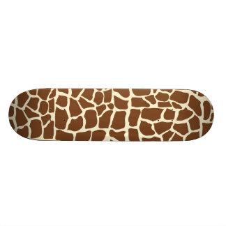 Estampado de animales del modelo de la jirafa patín personalizado