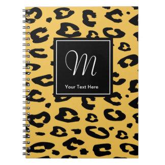 Estampado de animales del monograma del cuaderno