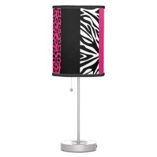 Estampado de animales del personalizado del leopar lámpara de escritorio