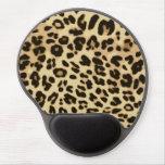 Estampado de animales elegante del leopardo alfombrillas de ratón con gel