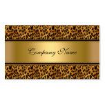 Estampado de animales elegante del leopardo del or plantillas de tarjetas de visita