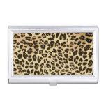 Estampado de animales elegante del leopardo cajas de tarjetas de negocios