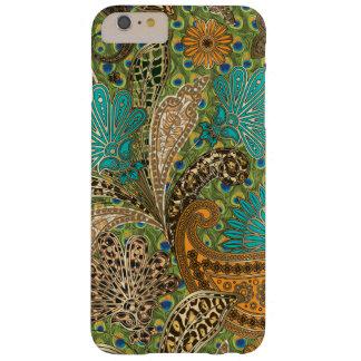 Estampado de animales elegante Paisley Funda De iPhone 6 Plus Barely There