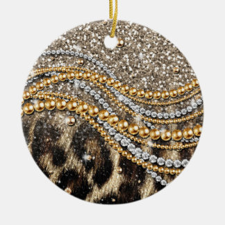 Estampado de animales femenino de moda hermoso del ornamentos de navidad