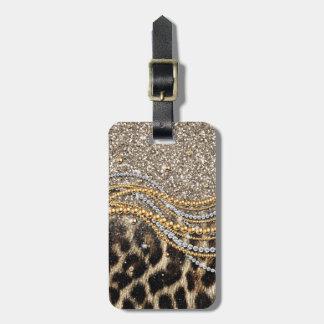 Estampado de animales femenino de moda hermoso del etiqueta de maleta