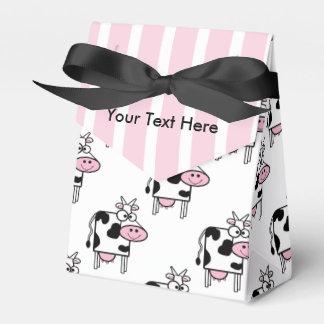 Estampado de animales femenino sonriente de la caja para regalo de boda