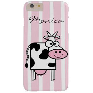 Estampado de animales femenino sonriente de la funda de iPhone 6 plus barely there