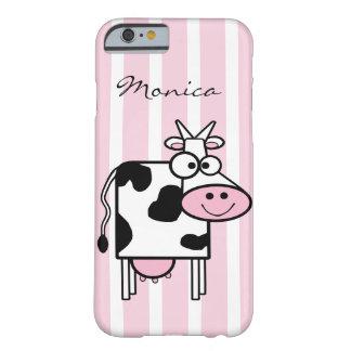 Estampado de animales femenino sonriente de la funda para iPhone 6 barely there