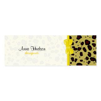 Estampado de animales, guepardo manchado - tarjetas de negocios