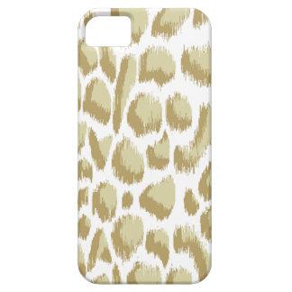 Estampado de animales Ikat Biege de Megan Adams iPhone 5 Case-Mate Coberturas