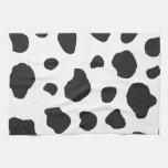 Estampado de animales (impresión) de la vaca, toallas de mano