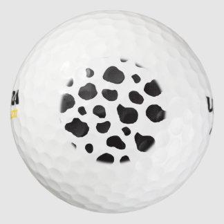Estampado de animales (impresión) de la vaca, pack de pelotas de golf