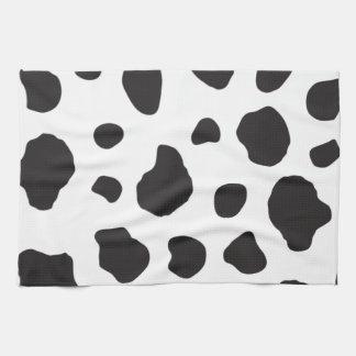 Estampado de animales (impresión) de la vaca, punt toallas de mano