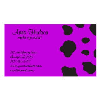 Estampado de animales (impresión) de la vaca, tarjetas de visita