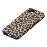 Estampado de animales, leopardo manchado - negro iPhone 5 Case-Mate cobertura