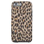 Estampado de animales, leopardo manchado - negro funda de iPhone 6 tough