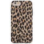 Estampado de animales, leopardo manchado - negro funda para iPhone 6 plus tough