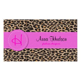 Estampado de animales, leopardo manchado - negro tarjeta personal
