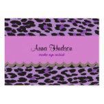 Estampado de animales, leopardo manchado - negro plantilla de tarjeta personal