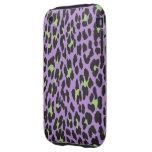 Estampado de animales, leopardo manchado - verde iPhone 3 tough carcasa