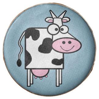 Estampado de animales lindo sonriente de la vaca