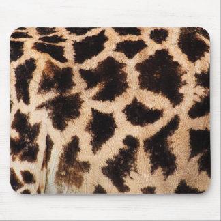 Estampado de animales (modelo) de la jirafa - mouse pads