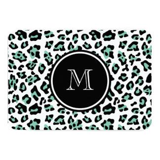 """Estampado de animales negro del leopardo de la invitación 3.5"""" x 5"""""""