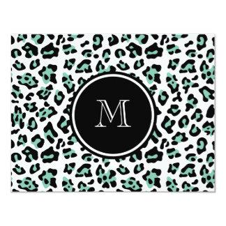 """Estampado de animales negro del leopardo de la invitación 4.25"""" x 5.5"""""""