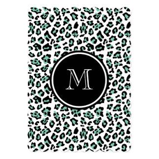 """Estampado de animales negro del leopardo de la invitación 5"""" x 7"""""""