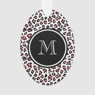Estampado de animales negro del leopardo del meloc