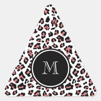 Estampado de animales negro del leopardo del pegatina triangular