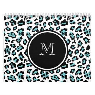 Estampado de animales negro del leopardo del trull calendario
