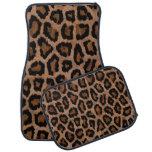 Estampado de animales negro femenino del leopardo alfombrilla de coche