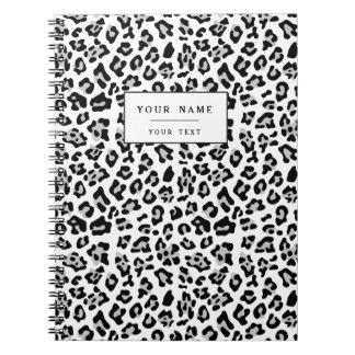 Estampado de animales negro gris PatternGray del Cuaderno
