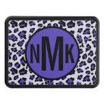 Estampado de animales negro púrpura del leopardo tapas de remolque