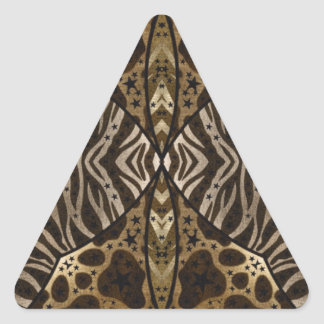 Estampado de animales calcomania trianguloada