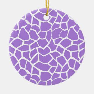 Estampado de animales púrpura Amethyst de la Ornamentos De Reyes
