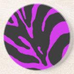 Estampado de animales púrpura de la raya de la ceb posavasos cerveza