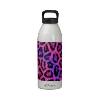 Estampado de animales púrpura del leopardo del botellas de agua reutilizables