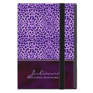 Estampado de animales púrpura rico del guepardo iPad mini fundas