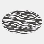 Estampado de animales, rayas de la cebra - blanco colcomanias de ovaladas