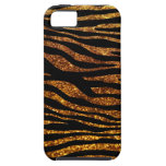 Estampado de animales, rayas de la cebra, brillo - iPhone 5 funda