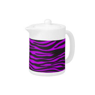 Estampado de animales, rayas de la cebra - púrpura