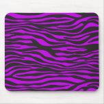 Estampado de animales, rayas de la cebra - púrpura tapete de raton