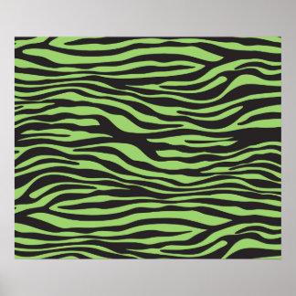 Estampado de animales, rayas de la cebra - verde impresiones