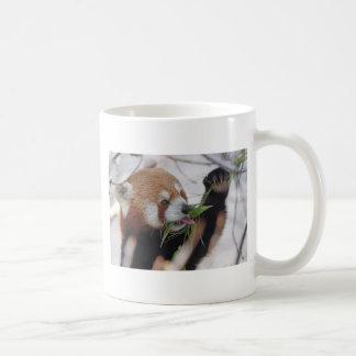 estampado de animales rojo de la panda lindo taza de café